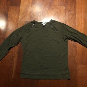 Kenneth Cole olive long sleeve top M